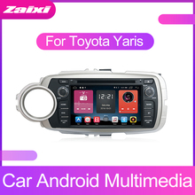 ZaiXi Android Car Multimedia player 2 Din WIFI GPS Navigation Autoradio For Toyota Yaris 2012~2013 Radio FM Maps BT