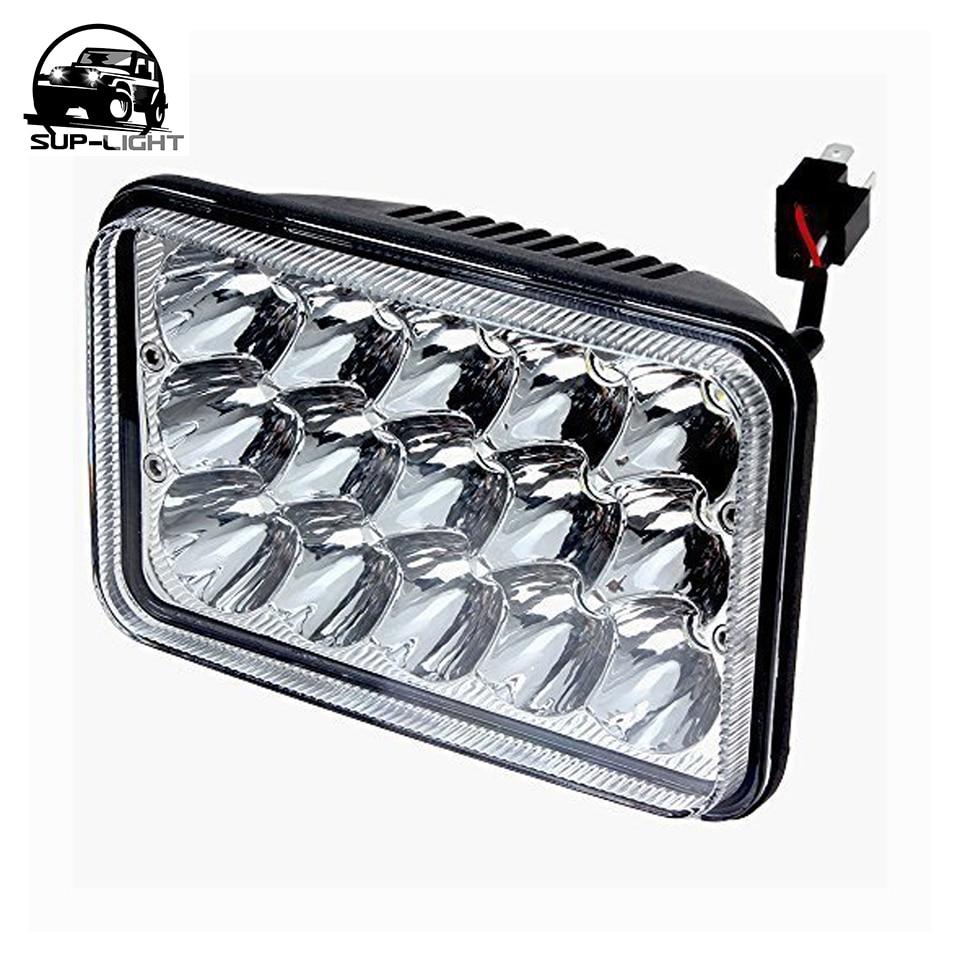 24pcs ctn 5 led headlight rectangular 4x6 inch 45w led sealed beam headlight for h4651 h4652 h4656 h4666 h6545 replacement in car headlight bulbs led  [ 960 x 960 Pixel ]