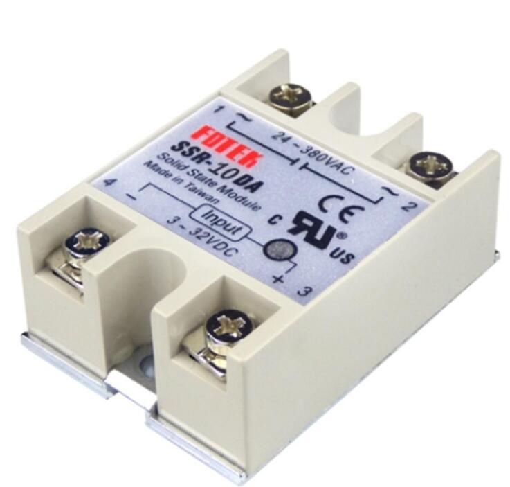 Solid State Relay Module SSR-10DA 10A DC 3-32V TO 24-380V AC SSR 10DA 25DA 40DA Voltage Transformer brand new dc to ac ssr 100da solid state relay module 100a 3 32vdc 24 380vac dc ac solid state relay