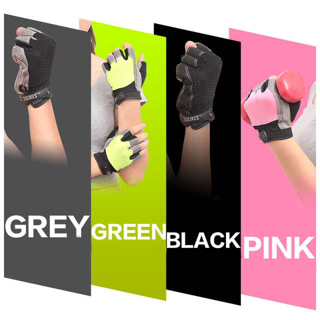 Women Gym Gloves Dumbbells Gloves Fitness Half Finger Gloves Breathable Anti-skid Protect Support Wrist Mittens Women AGB552