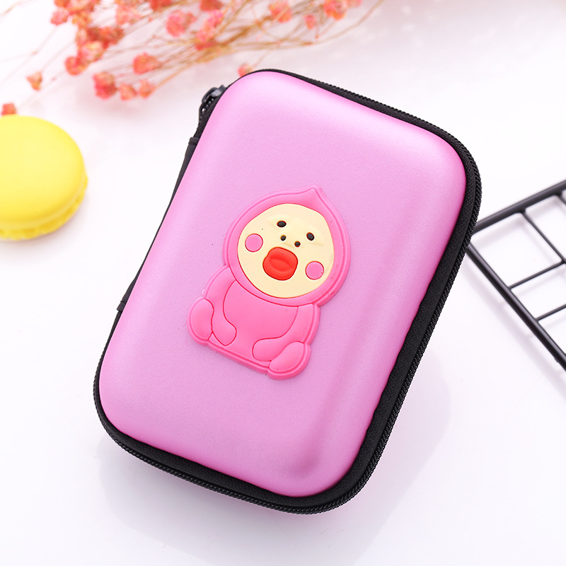 Cute Animals Earphone Holder EVA Silicone Coin Key Purse Bags Boxes Cartoon Gifts Kids Boy Girls Dollar Price Small Mini Wallets