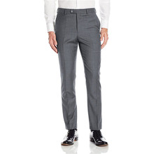 Custom Made Light Grey Men's Suit Pants Dress Pants Male Casual Long Trousers Slim Fit Flat Confirm Waistline Pants P513