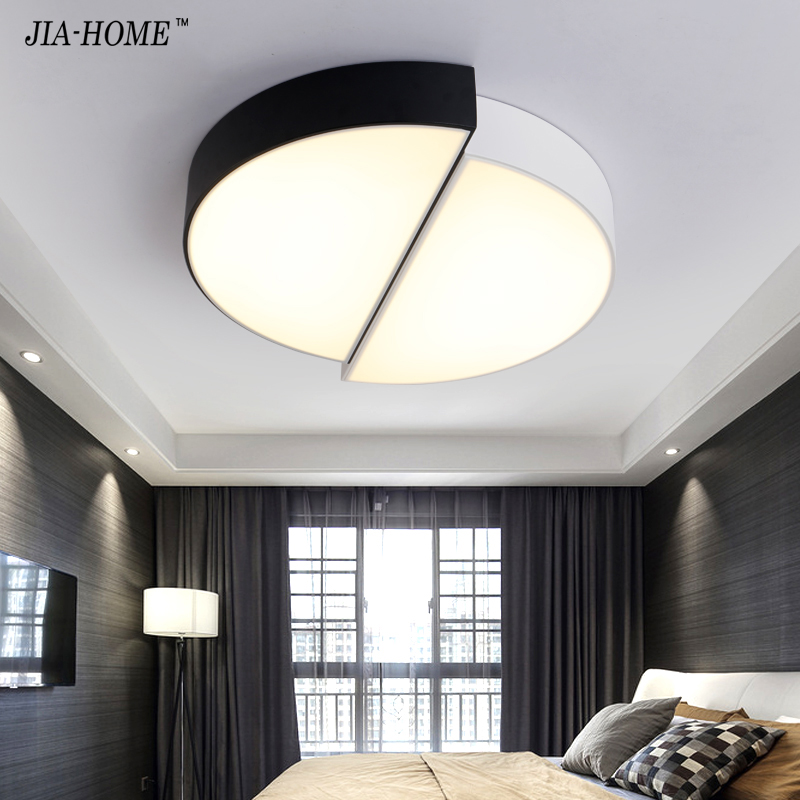 Ceiling Lights & Fans White&black Led Ceiling Lights For Sitting Room Bedroom Indoor Dimmable Lighting Led Luminaria Abajur Lustre Plafond Ac85-260v Selected Material