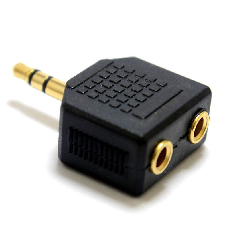 Fashion 3.5 mm 1 Male Plug to 2 Female Jack Audio Headphone Adapter Connector