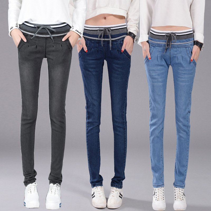 6 EXTRA LARGE New Jeans Spring Autumn Women Jeans Stretch Skinny Pencil Pants Denim 3 Color Casual Plus Size Trousers pantalone