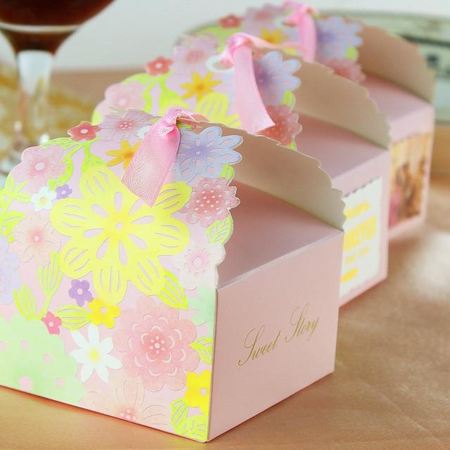 100 Pcs Romantique Belle Fleur Boite De Bonbons Sweety Amour De
