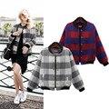 New Fashion Women Winter Jackets Moletom Casual Short Wool Blends Jaqueta Plaid Coat Cardigans Patchwork Feminino Plus Size 4XL