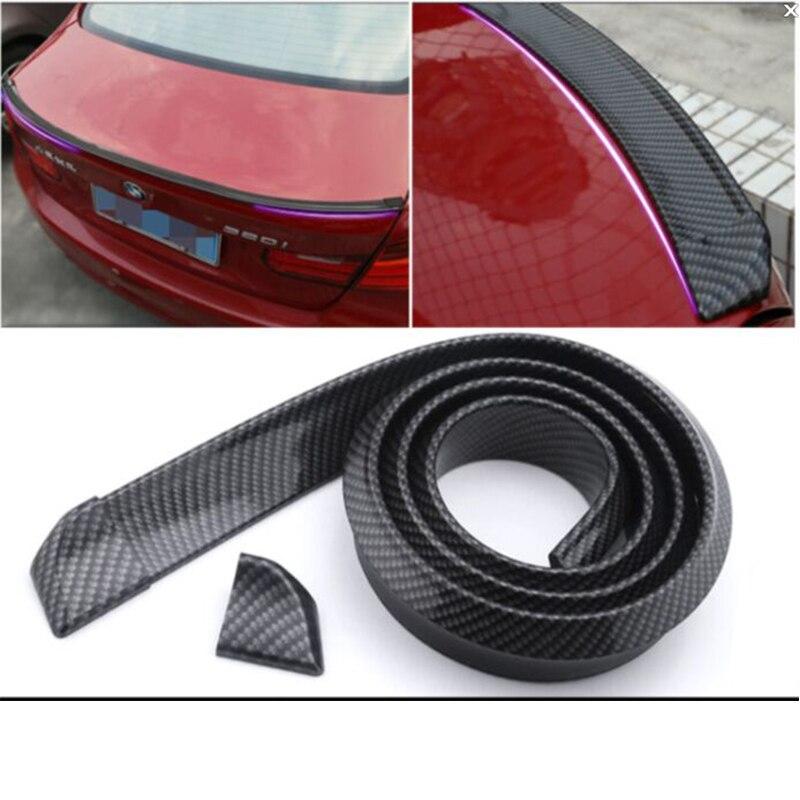 For hyundai chevrolet mitsubishi Sedan car accessories fake Carbon Fiber style car Rear trunk Spoiler lip