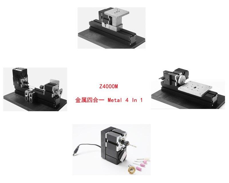 24W Metal 4 in 1 Mini Lathe 24W,20000rpm DIY metal mini lathe kit Z4000M