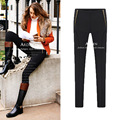 5xl плюс большой размер брюки женщины весна осень 2016 бермуды feminina тонкий черный тощий стретч леггинсы женский A1380