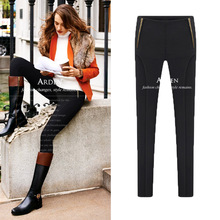 5xl plus big size pants women spring autumn 2016 bermuda feminina thin black skinny stretch leggings female A1380