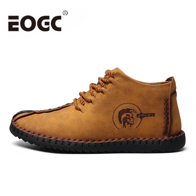 High Quality Split Leather men boots Keep Warm Men Winter shoes Plush Casual Men Shoes Fahsion men ankle boots Plus size 38-48