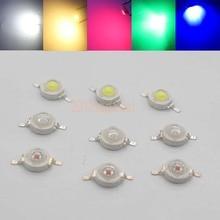 10 шт. настоящий полный ватт CREE 1 Вт 3 Вт Высокая мощность светодиодный лампочка диоды SMD 110-120LM светодиодный s чип для 3 Вт-18 Вт Точечный светильник