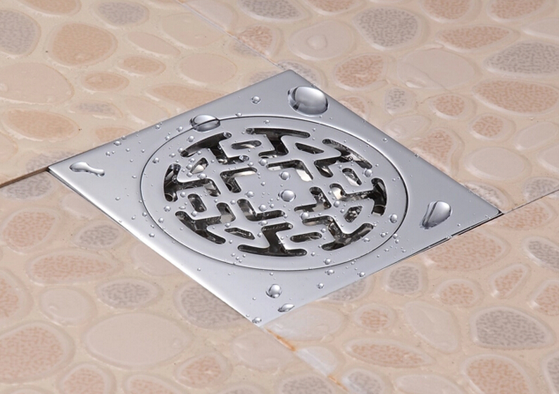 Bathroom Floor Drain : Free shipping copper shower floor drain bathroom toilet