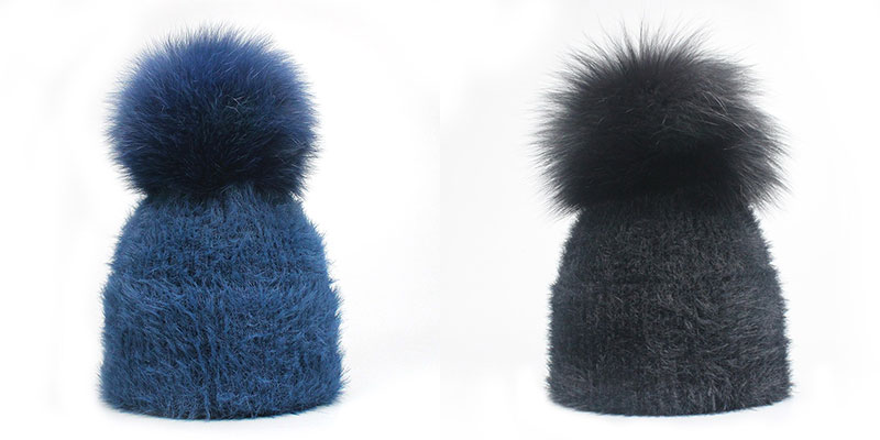 8d8a9100443 Casual Solid White Black Green Red Rabbit Fur Beanie Hat Female Real Fox  Fur Pom Pom Skullies Caps Winter Warm Soft Knitted Hat