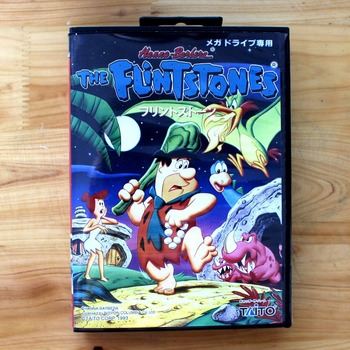 The Flintstones 16 Bit MD Game Card with Retail Box for Sega MegaDrive & Genesis Video Game console system