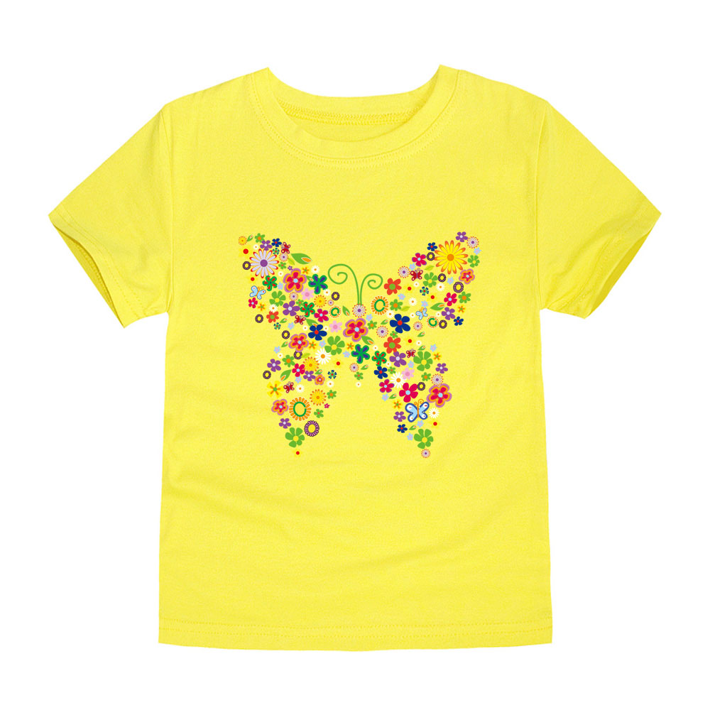HTB1jhEdfRsmBKNjSZFFq6AT9VXaq - Summer Brand New Baby Girls T Shirts Kids Butterfly Flower T Shirts Children Floral Summer Tops for Girl Tshirt Girl