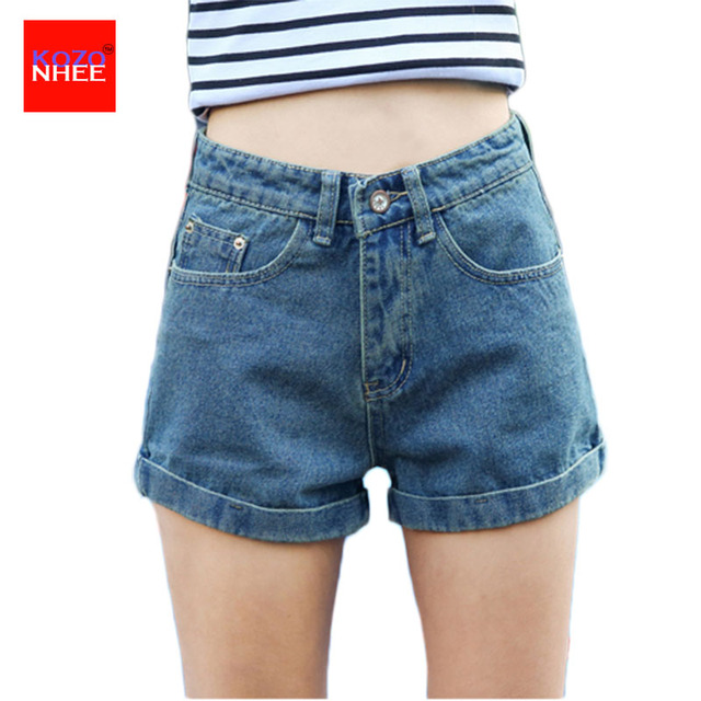 Denim Shorts Women Black Jeans with high waist Sexy Thin Denim Shorts Women