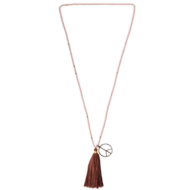 Fashion hot now tassel statement beaded necklaces pendants women fashion hot now tassel statement beaded necklaces pendants women crystal peace sign pendant necklaces handmade mozeypictures Image collections