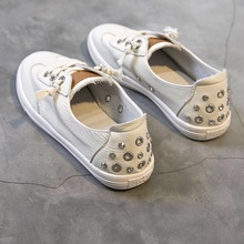 Shoes Women Fashion 2019 Sneakers Summer Casual Shoes White Slip On Low Flat Loafers Boat Shoes Non-Slip Soft Breathable цена