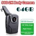 Бесплатная доставка! 2 К HD S60 Тела Личной Безопасности и Полиции Камеры Ночного Видения 6-часовой Записи 64 ГБ Ambarella A7LA50