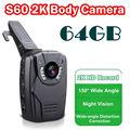 Frete grátis! 2 K HD S60 Corpo Pessoal de Segurança & Police Camera Night Vision 6-hour Registro 64 GB Ambarella A7LA50