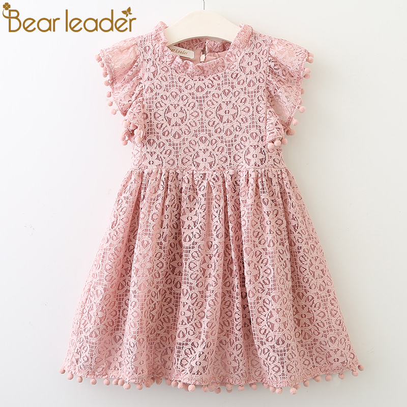 Bear Leader Girls Dress 2018 New Summer Brand Girls Clothes Lace And Ball Design Baby Girls Dress Party Dress For 3-7 Years коптильня амет 1с2179