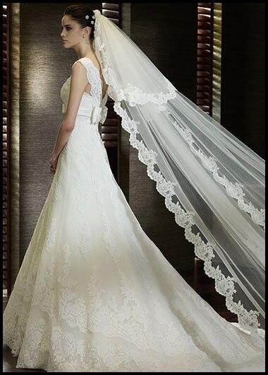 Bridal Veil 5 Meters Long Elegant Aesthetic Veil Wedding Accessories Extra Ultra Long Veil White