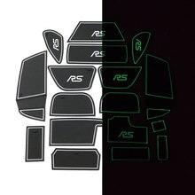 17 шт./компл. силикагель автомобилей Gate Игровые Коврики Нескользящие Салонные подложки для Ford Focus RS ST 2015-2017 подкладке аксессуары