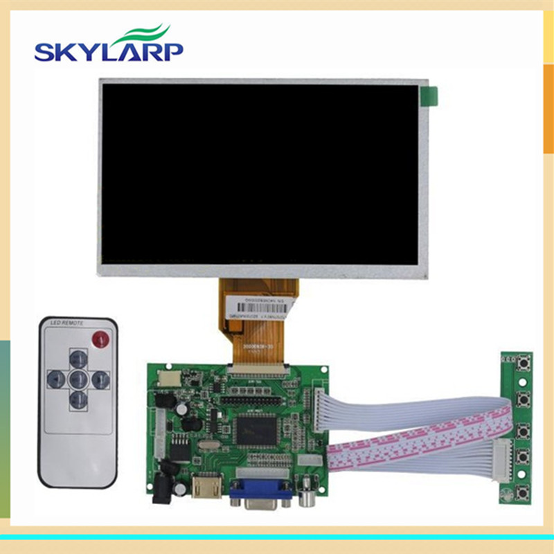 skylarpu 7 inch for Raspberry Pi With HDMI VGA AV LCD Screen Display Monitor For Pcduino Banana Pi (without touch) 10pcs 7 inch lcd display monitor 800 480 for raspberry pi driver board hdmi vga 2av size 165 100mm
