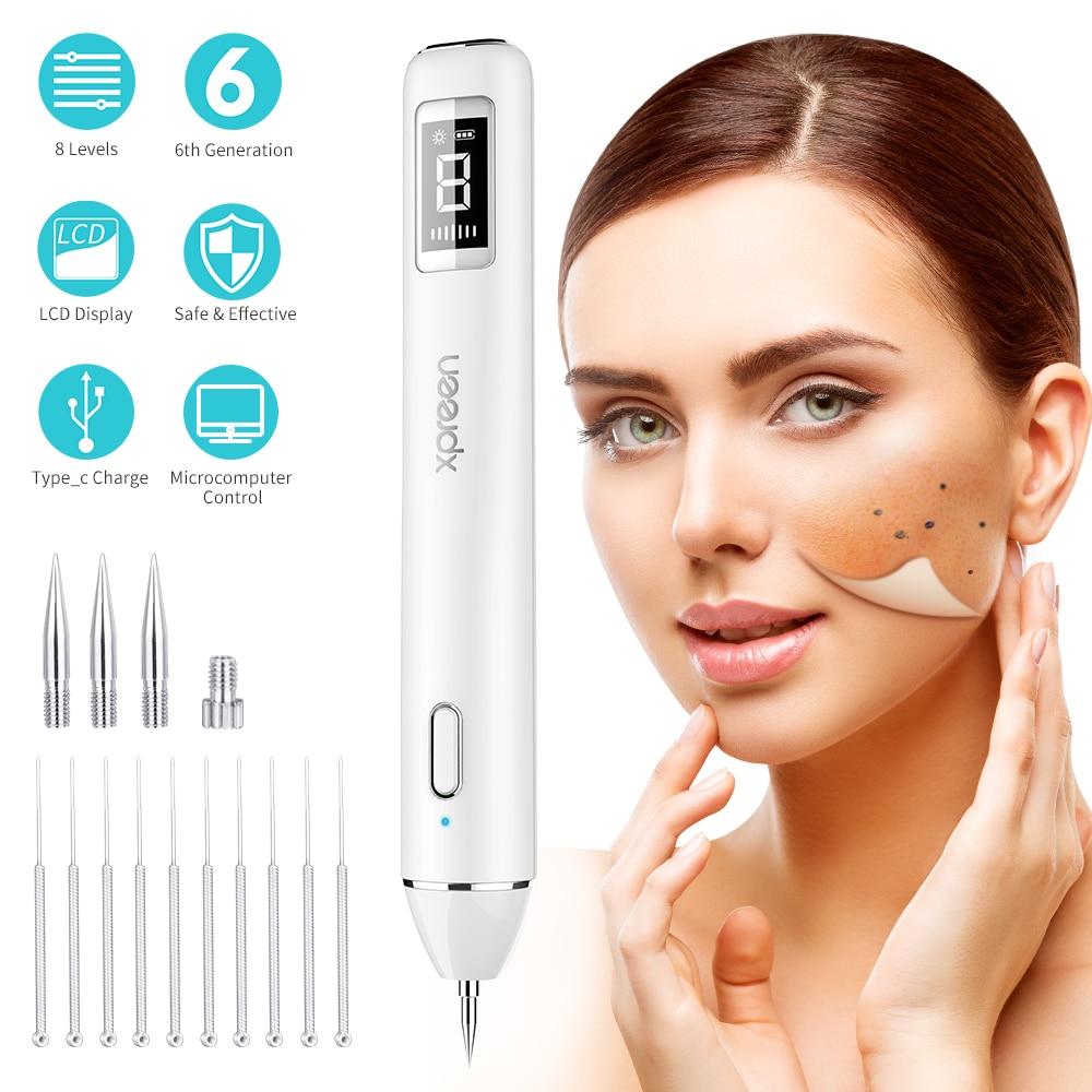 Mole Removal Pen, LCD Laser Plasma Pen Machine Wart Remover Mole Tattoo Remover Machine Skin Tag Removal Spot Pore Cleaner Tools