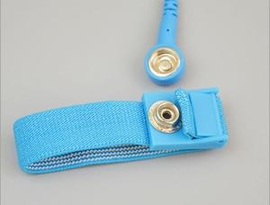 Image 4 - Componentes de correa de muñeca antiestática con Cables de descarga extraíbles para herramientas de electricista azul