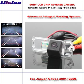 Intelligentized Reversing Camera For Jaguar X-Type 2001~2009 Rear View Back Up / 580 TV Lines Dynamic Guidance Tracks