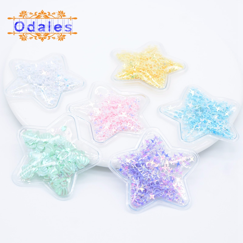 12Pcs Filling Cross Sequin Star Appliques Flowing Patches for Hair BB Clips Cover Appliques for Girl DIY Hair Clip Accessories