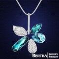 Роскошные элегантные цветы длинное ожерелье цепь свитера с элементами Swarovski кристаллов для женщин девушки лучшие друзья колье ювелирные изделия