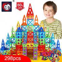 100-298pcs Blocos Magnéticos Conjunto Modelo de Construção Designer & Brinquedo de Construção de Plástico Blocos Magnéticos Brinquedos Educativos Para Crianças presente