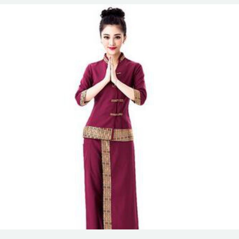 New thai massage work wear women 39 s spa workwear female for Spa uniform supplier in singapore