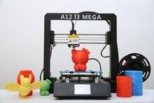 3D Printer A12 Mega Large Plus Size Full Metal TFT Touch Screen 3d Printer High Precision 3D Drucker Impresora Parts portable 3d printer full metal frame high precision large printing size usb printing machine lcd touch screen display