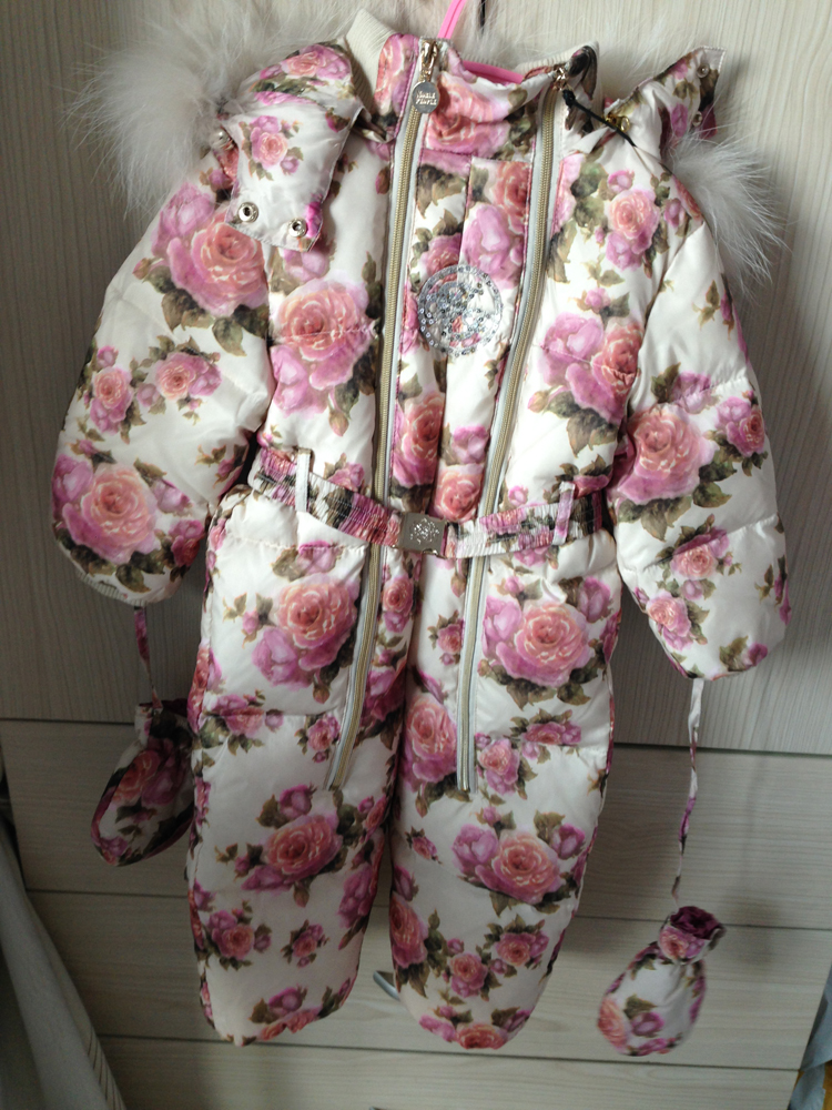 Free shipping Russia noble people brand baby girl one-piece down suit 2years old 92cm(only 1pc left) noble people жакет школьный