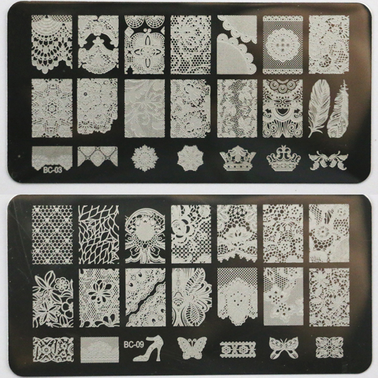 New lace design nail stamping plates nail art image stampping nail new lace design nail stamping plates nail art image stampping nail art plates manicure template nail tool bc in nail art templates from beauty health on prinsesfo Choice Image