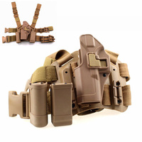 Left Hand Tactical Glock Leg Holster Thigh Pistol Gun Holster With Magazine And Flashlight Pouch For Glock 17 19 22 23 31 32