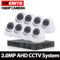 Home Security Camera System 8ch CCTV System 4x 1080P Indoor Camera 2 0MP Camera Surveillance System