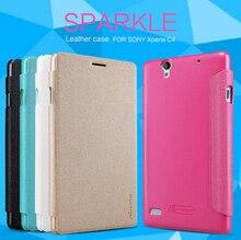 Для Sony Xperia C4 чехол Nillkin Искра кожаный телефон случаях для Sony C4 C4 мобильного телефона крышка для Xperia защитная случае