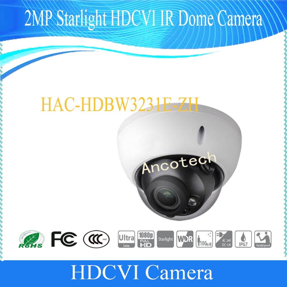 Free Shipping DAHUA CCTV Security Camera 2MP Starlight HDCVI IR Dome Camera IP67 IK10 without Logo HAC-HDBW3231E-ZH dahua 2 1mp 1080p vandal proof wdr ir hdcvi mini dome camera ip67 ik10 security cctv outdoor camera without logo hac hdbw2221e