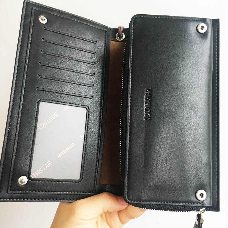 Mens Wallets And Purses New Fashion Brand Pu Leather Wallet Men Long Coin Pocket 2016 Long Clutch Designer Wallet Phone Pouch аксессуар чехол lenovo ideatab s6000 g case executive white