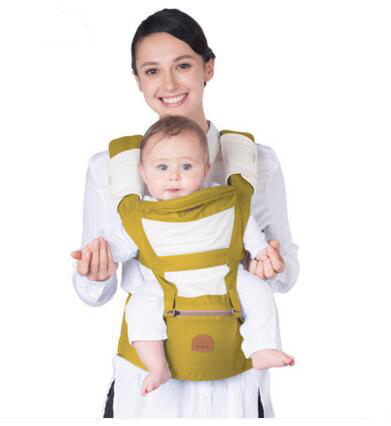 Wholesale Baby Backpack Carriers Cotton Adjustable Shoulder Embrace Babies Waist Stool with Zipper Breathable Toddler Sling