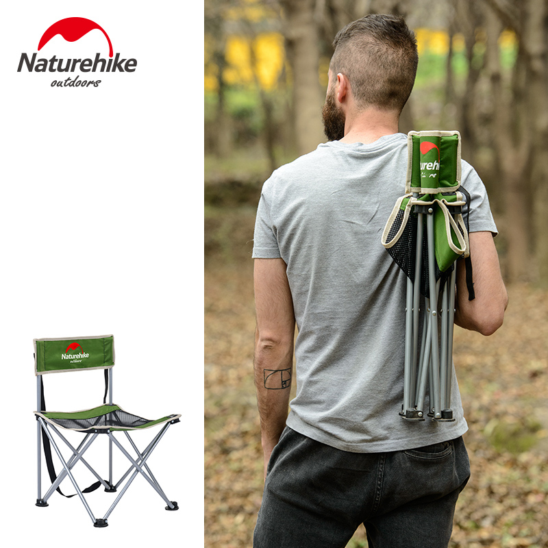 Naturehike folding chair outdoor Beach Chair Lightweight Portable Fishing Chair iron material Stool Camping small seat-in Outdoor Tools from Sports & Entertainment    3