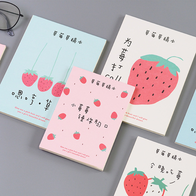 US $2 11 |Cute Kawaii Fruits Printing Notebook Cartoon A6 B6 Diary Planner  Notepad for Kids Gift Korean Student Office School Stationery-in Notebooks