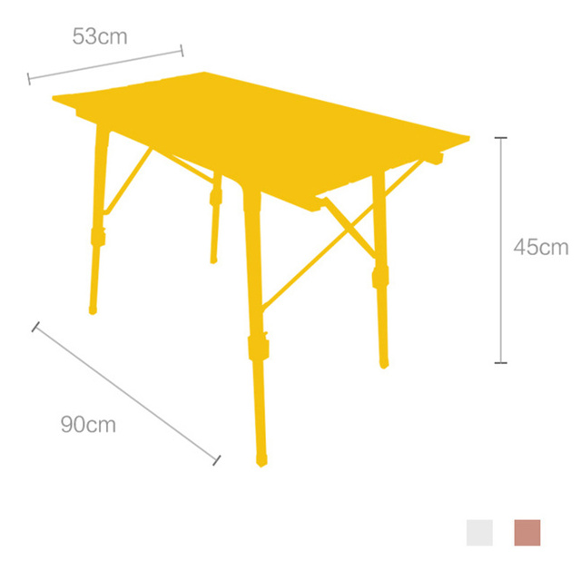 Mesa ajustable en altura escritorio plegable de plata barbacoa de camping portátil senderismo viaje pícnic AL aire libre plegable AL ultraligero mesas