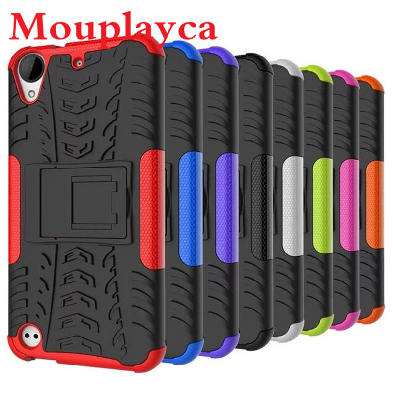 Hybrid Armor Hard Texture Design Protective Case for HTC Desire 530 630 728 825 828 Dual Sim One A9 Cover Shockproof Function